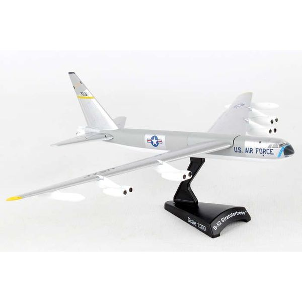 Postage Stamp Models B52 Stratofortress USAF silver 2005 1:300 with stand