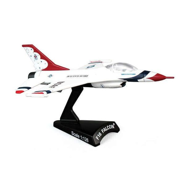Postage Stamp Models F16 Fighting Falcon Viper USAF Thunderbirds 1 1:126 with stand