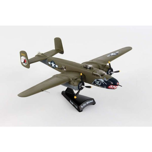 Postage Stamp B25J Mitchell USAAF Betty's Dream camouflage 1:100 with stand