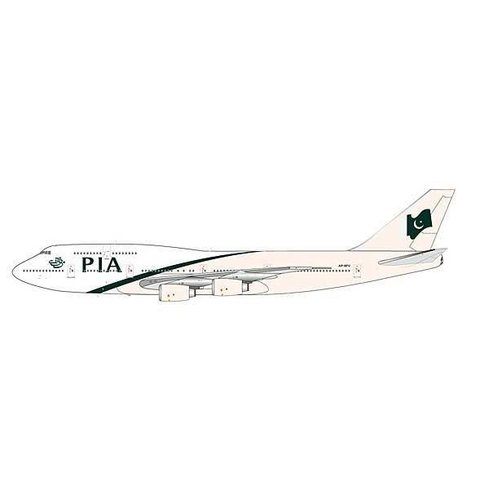 B747-300 PIA Pakistan New Livery AP-BFV 1:200 with stand