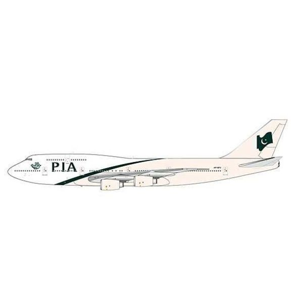 JC Wings B747-300 PIA Pakistan New Livery AP-BFV 1:200 with stand