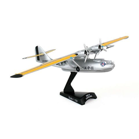 PBY5 Catalina US Navy silver 14-P-11 1:150 with stand