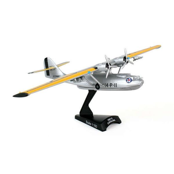 Postage Stamp Models PBY5 Catalina US Navy silver 14-P-11 1:150 with stand