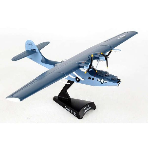 Postage Stamp Models PBY5 Catalina US Navy blue/grey 1:150 with stand