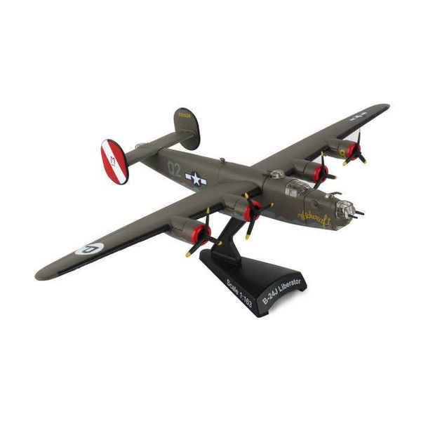 Postage Stamp Models B24 Liberator USAAF Witchcraft Camouflage P 02 1:163 with stand