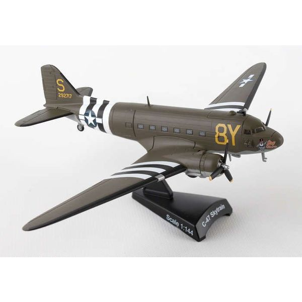 Postage Stamp Models C47 Skytrain USAAF Stoy Hora 8Y-S D-Day 1:144 with stand
