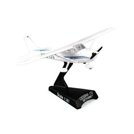 Postage Stamp Models C172 Cessna wavy blue cheatline 1:87 with stand