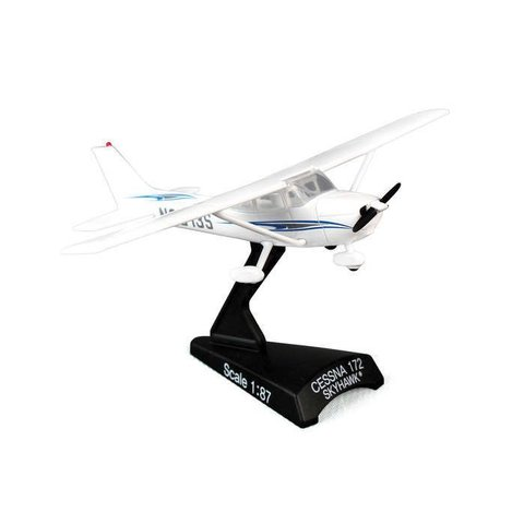 C172 Cessna wavy blue cheatline 1:87 with stand