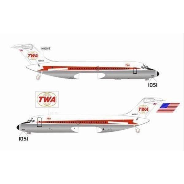 DC9 TWA N105IT 1:400**O/P**