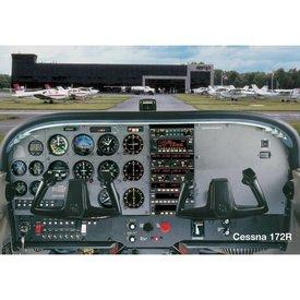 Sporty's Poster Cessna C172R Cockpit
