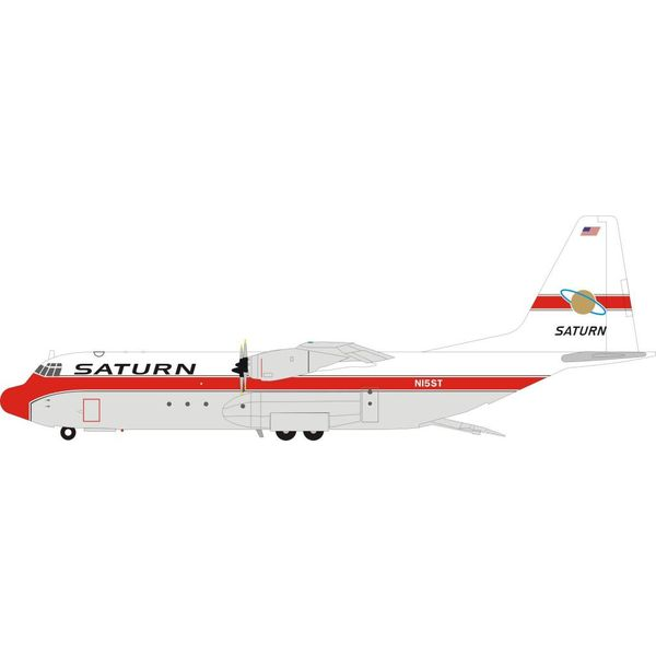InFlight L100-30 Hercules L-382G Saturn Airways N15ST 1:200 With Stand