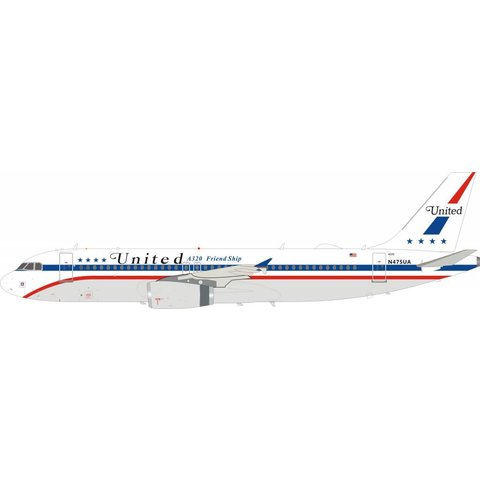 A320 United Airlines A320 Friend Ship N475UA 1:200 with stand
