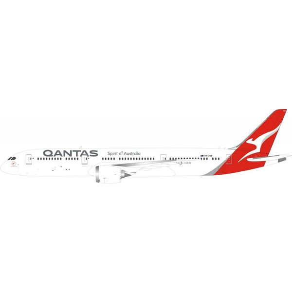 InFlight B787-9 Dreamliner QANTAS VH-ZNB 1:200 with stand