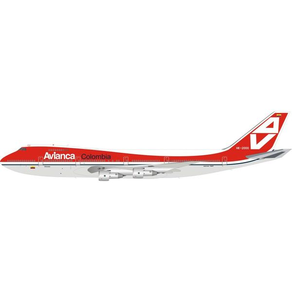 InFlight B747-100 Avianca Columbia HK-2000 1:200 with stand