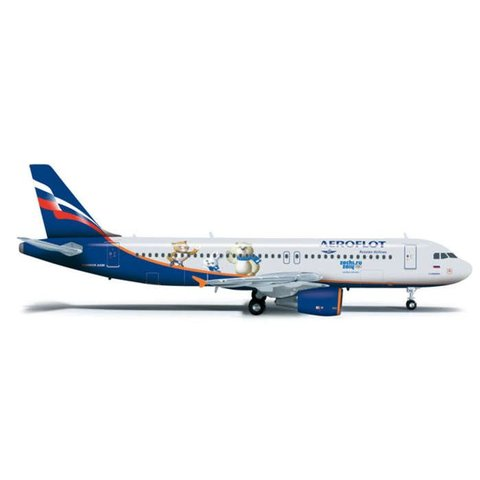 Herpa A320 Aeroflot Sochi 2014 1:200 with stand