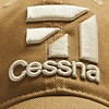 Cap Cessna 3D Logo Tan