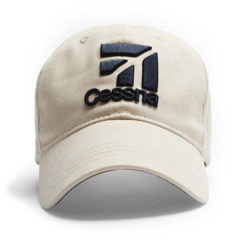 Cap Cessna 3D Logo Stone