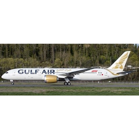 B787-9 Dreamliner Gulf Air 2018 Livery A9C-FA 1:200 with stand