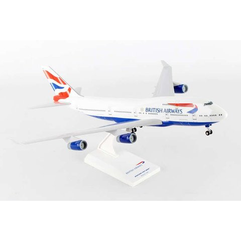 B747-400 British Airways 1:200 with Gear + Stand