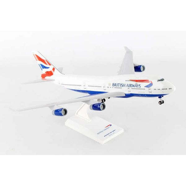 SkyMarks B747-400 British Airways 1:200 with Gear + Stand