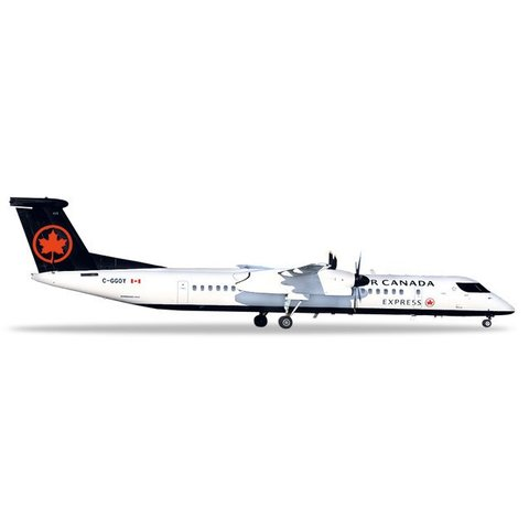 dash8 Q400 Air Canada Express jazz 2017 livery C-GGOY 1:200 with stand
