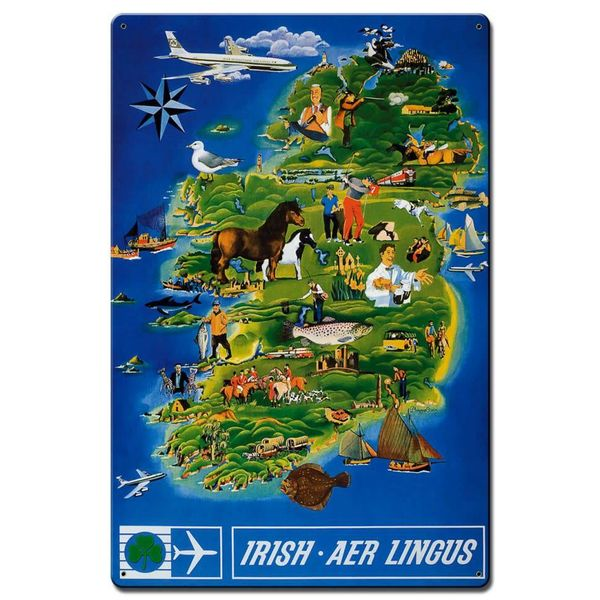 Aer Lingus Metal Sign