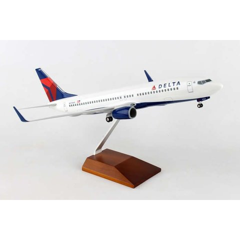 B737-800W Delta 2007 livery 1:100 Supreme with wood stand + gear