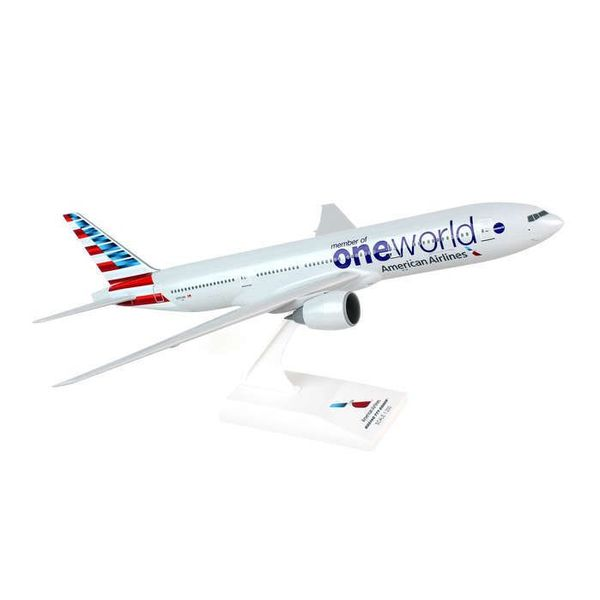 SkyMarks B777-200 American OneWorld New Livery 1:200 with stand