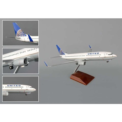 B737-800W United 2010 Livery 1:100 Supreme with stand + gear