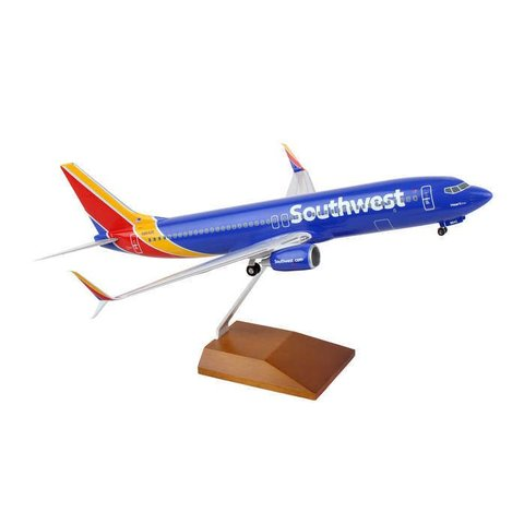 B737-800W Southwest New livery 2014 Heart 1:100 with wood stand + gear