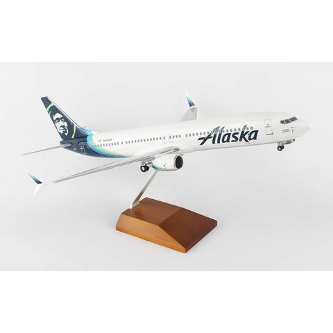 B737-900S Alaska New Livery 2016 1:100 Supreme with stand+gear