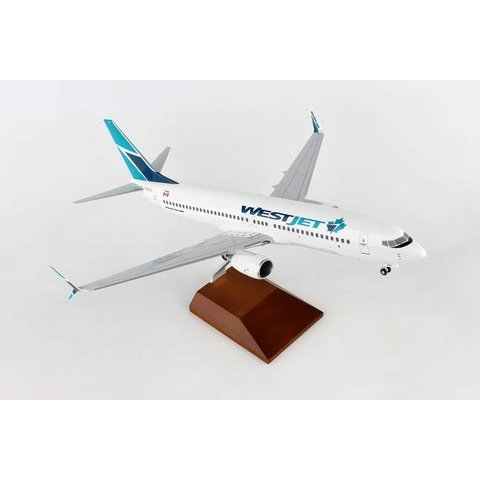 B737-800S Westjet 2016 livery Maple Leaf 1:100 Supreme with gear + stand