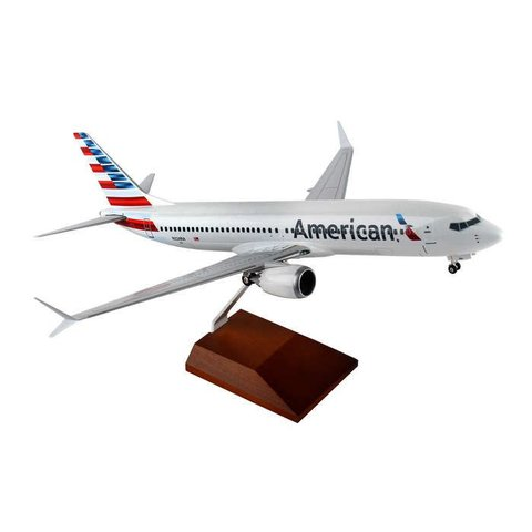 B737 MAX8 American Airlines 2013 Livery 1:100 Supreme with stand+gear