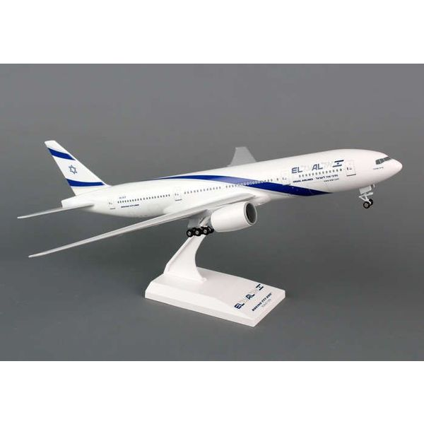 SkyMarks B777-200ER El Al 1:200 With Gear+stand