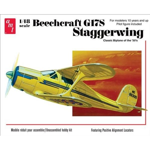 AMT BEECHCRAFT G17S STAGGERWING 1:48