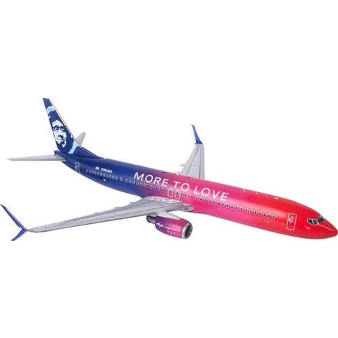 B737-900ERW Alaska More to Love 1:130 Supreme with stand+gear