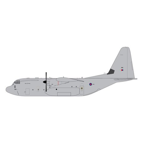 C130J Hercules C5 RAF Royal Air Force ZH886 1:200 with stand