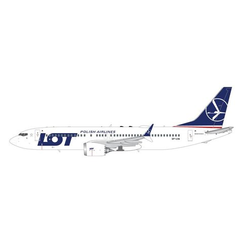 B737 MAX8 LOT Polish Airlines SP-LVA 1:200 with stand