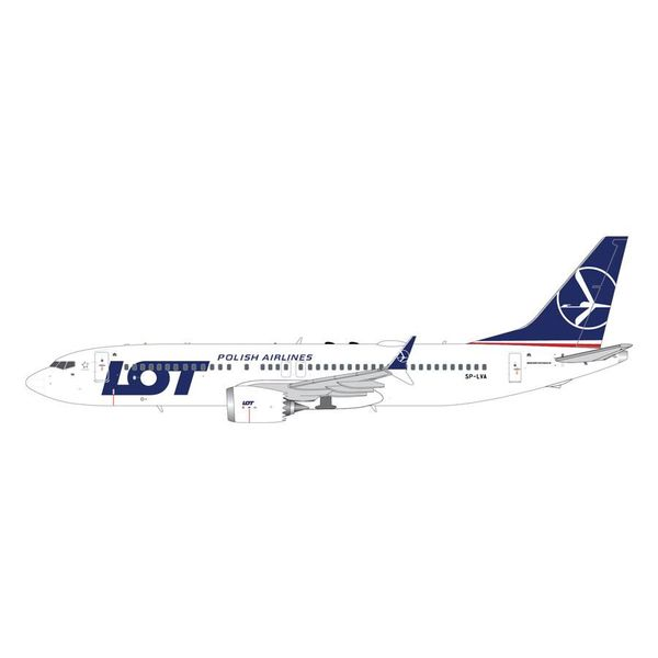 Gemini Jets B737 MAX8 LOT Polish Airlines SP-LVA 1:200 with stand