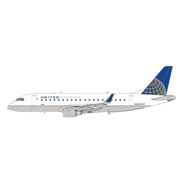 Gemini Jets ERJ175 United Express Skywest 2010 livery N163SY 1:200 with stand