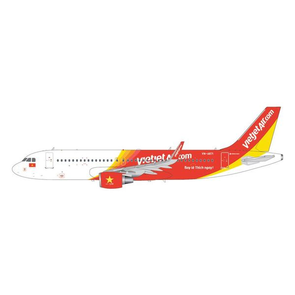 Gemini Jets A320S VietJet VN-A671 1:200 with stand