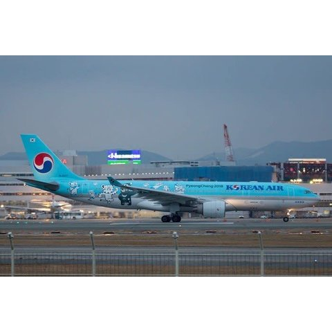 A330-200 Korean Pyeong Chang Olympics 2018 HL8227 1:200 with stand