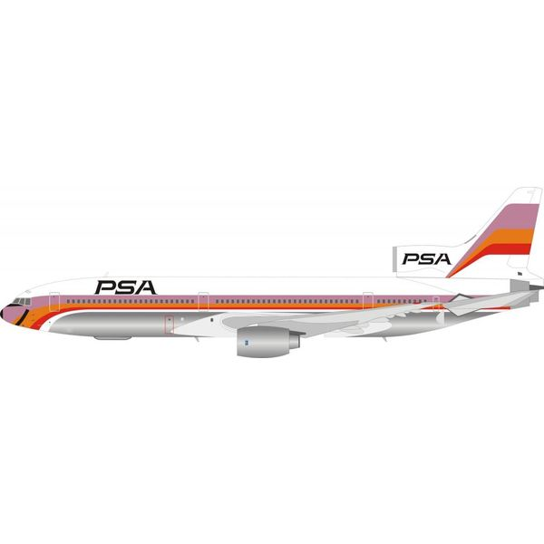 InFlight L1011 TriStar PSA N10112 1:200 with stand polished