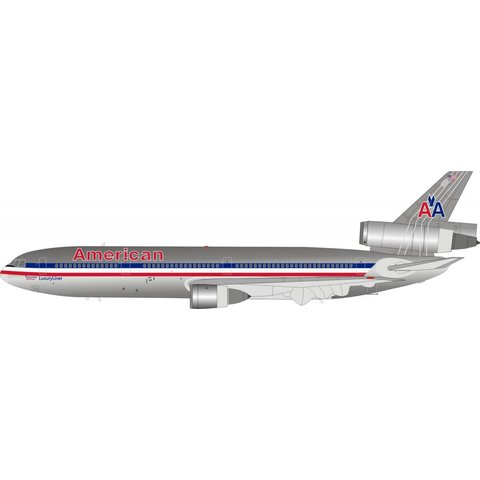 DC10-30 American Airlines N144AA Polished 1:200 with stand