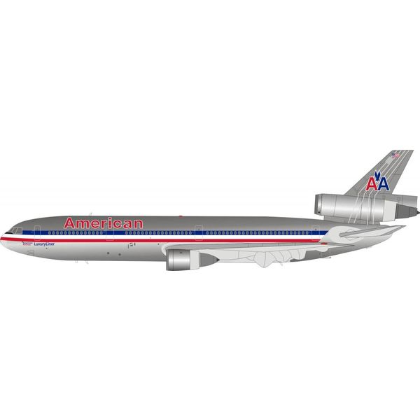 InFlight DC10-30 American Airlines N144AA Polished 1:200 with stand