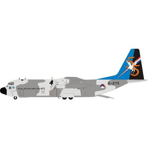 C130H-30 Hercules Royal Netherlands Air Force G-275 1:200 with stand