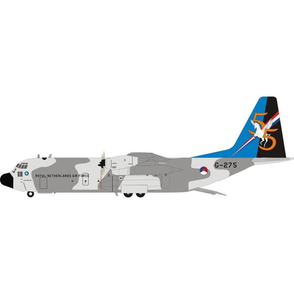 InFlight C130H-30 Hercules Royal Netherlands Air Force G-275 1:200 with stand