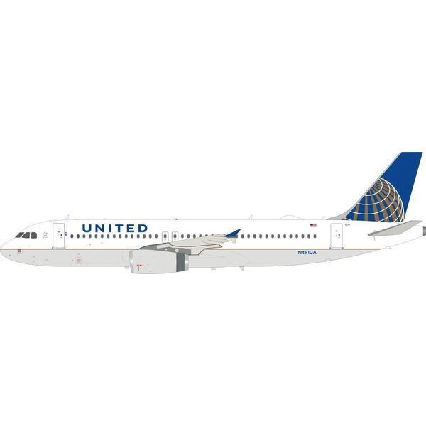InFlight A320 United Airlines A320 2010 livery N491UA 1:200 with stand