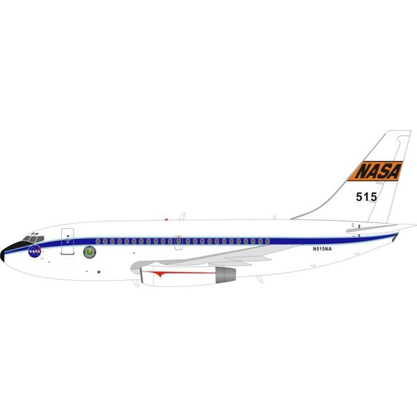 InFlight B737-100 NASA N515NA 1:200 with stand