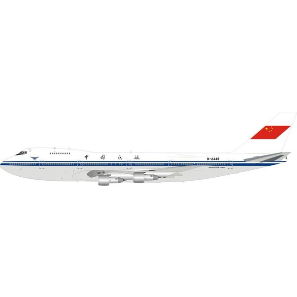 InFlight B747-200 CAAC B-2448 1:200 Polished With Stand